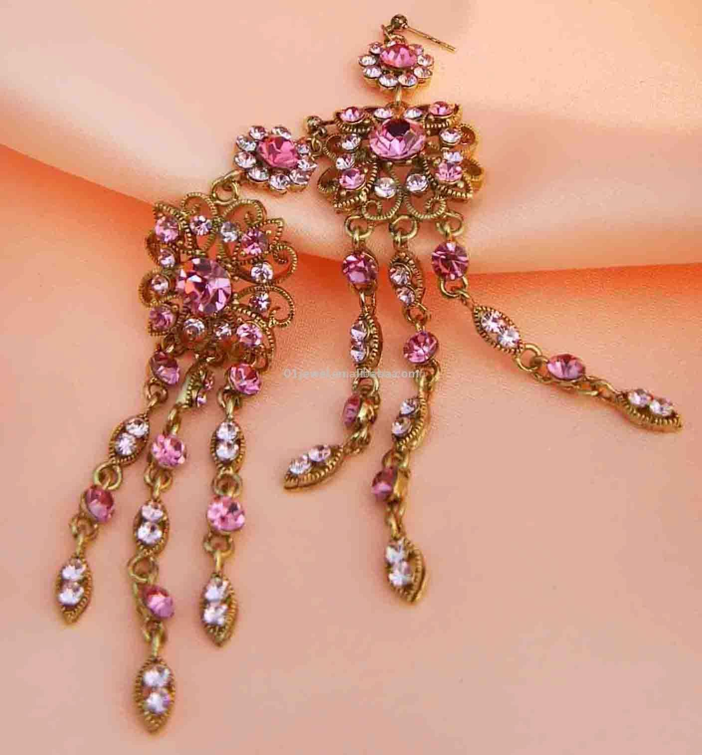 Czechic Rhinestone Earrings