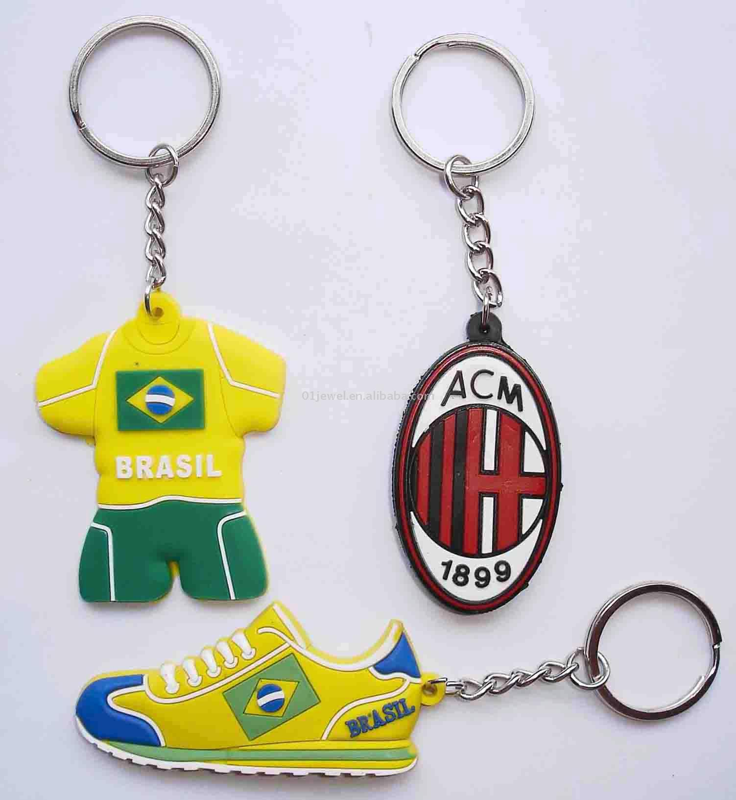 Football Soft PVC Key Chain