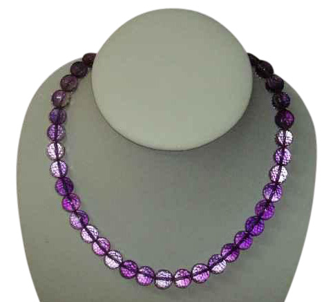 128-Cut Crystal Necklace