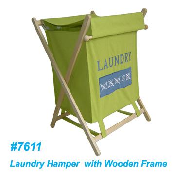 Wooden Frame Laundry Hamper