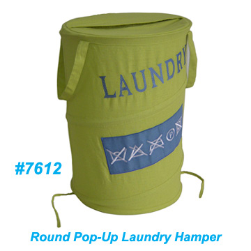 Pop-Up Round Laundry Hamper