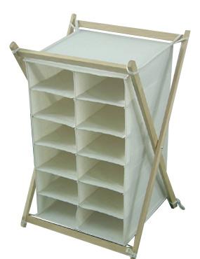 Wooden Frame Canvas Shelf