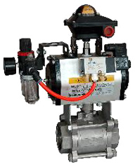 Ball Valve with Pneumatic Actuators