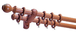 Wooden Curtain Rail (Деревянный занавес Железнодорожный)