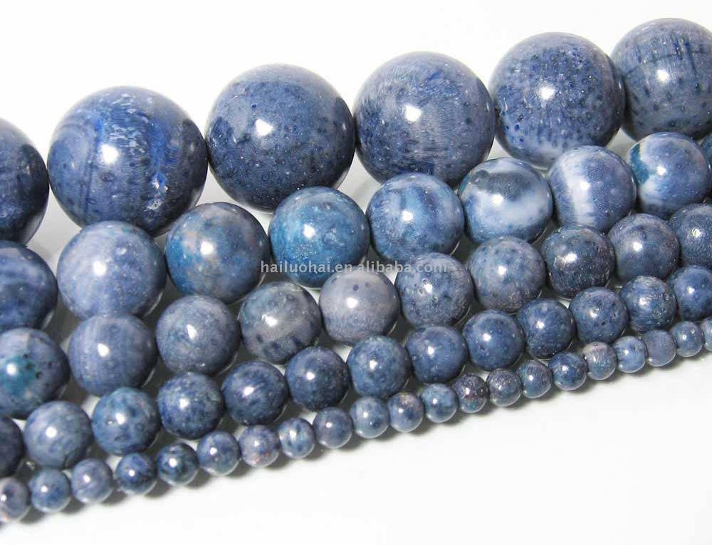 Blue Coral Bead