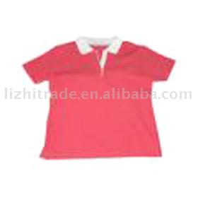 Ladies` Printed Short-sleeve Polo Shirt (Женские Печатный коротким рукавом Рубашки поло)
