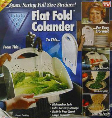 Flat Folding Colander (Квартира складной Дуршлаг)