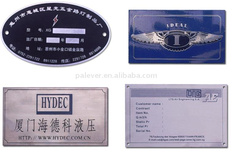 Equipment Sign/Label, Nameplate