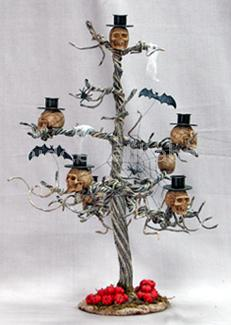 Halloween Skull Candle Tree (Хэллоуин Черепа свеча дерево)
