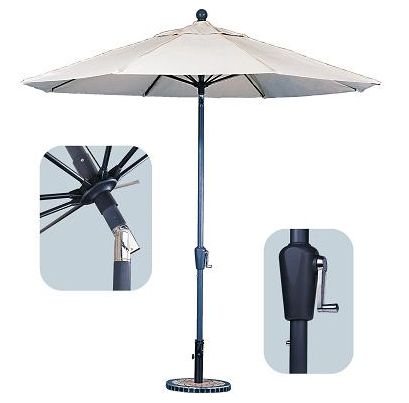 Crank  Tilt Patio Umbrella with Flap | Overstock.com