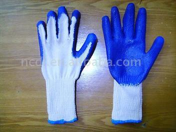 GC009 Latex Coated Poly-Cotton Glove