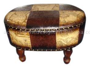 Leather Stool (Стул кожа)