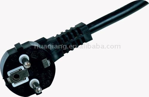 Europe Type Two Round-Pin Plug with Power Cable