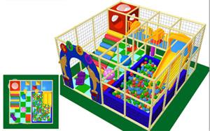 Kinderspielplatz Children Playground. Malerische Indoor Spielplatz Zuhause  Design ...