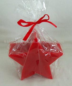 Red Candle in Star-Shaped (Красная свеча в звездных)