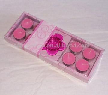 8pc Pink Teelicht Kerzen mit One Pink-Halter in Geschenkbox (8pc Pink Teelicht Kerzen mit One Pink-Halter in Geschenkbox)