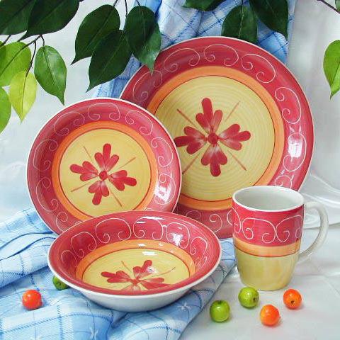 16pc Hand Painted Dinnerware Set