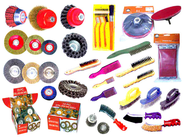 Wire Wheel, Wire Brush & Sanding Pad