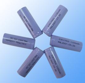 1100mAh/3.7V Lithium Cylindrical Battery (1100mAh/3.7V литиевых аккумуляторов Цилиндрические)