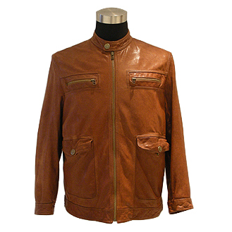 Men`s Washed Lamb Leather Jacket