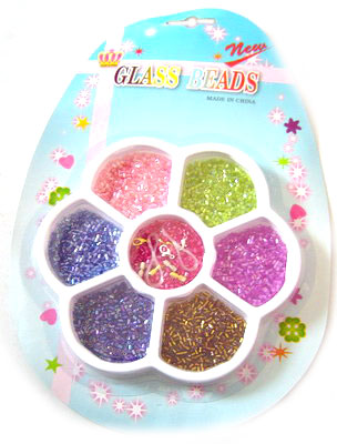 We can offer different colors of the glass beads with different models.