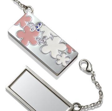 Pocket Mirror (Flower Style) (Карманное зеркальце (Цветочный стиль))