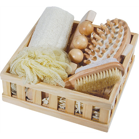 Bathroom Accessory Sets on Wooden Bath Set   Wooden Bath Set