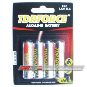 Alkaline Battery-D C AA AAA 9V-Card