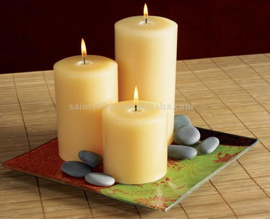 Pillar Candle with Glass Holder (Компонент свечи стекло Организатор)