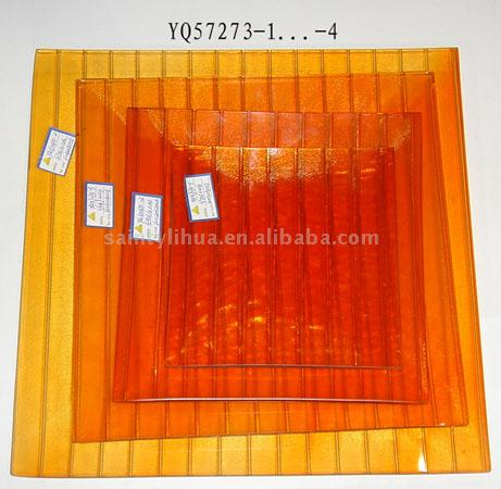 Square Glass Plate in 4 Sizes (Площадь Glass Plate в 4 размерах)