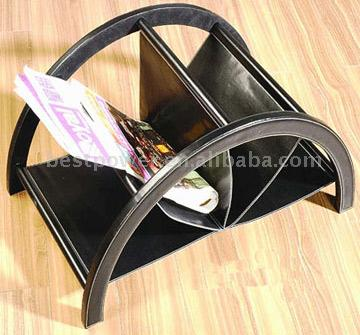 Leather Magazine Rack (Кожа Журнал R k)