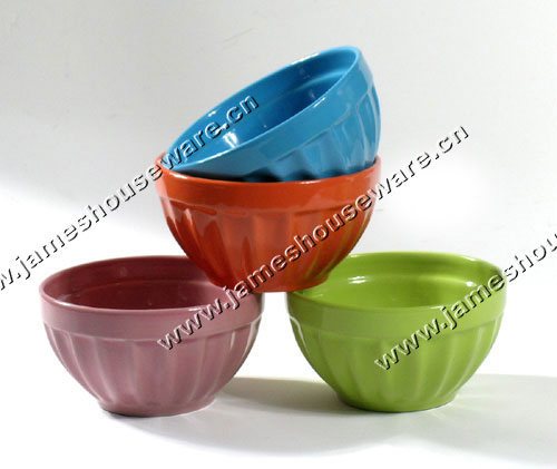 Color Glazed Ceramic Bowl