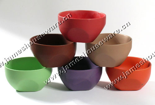 Color Matte Ceramic Bowl