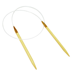 Bamboo Circular Knitting Needles with Aluminum Joint