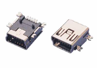 Mini USB B.F. 5P SMT Type (Мини USB B.F. 5P SMT типа)