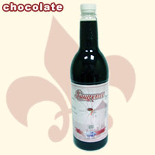 chocolate syrup ,Tea Drinks ,juice (sirop de chocolat, boit du thé, du jus)