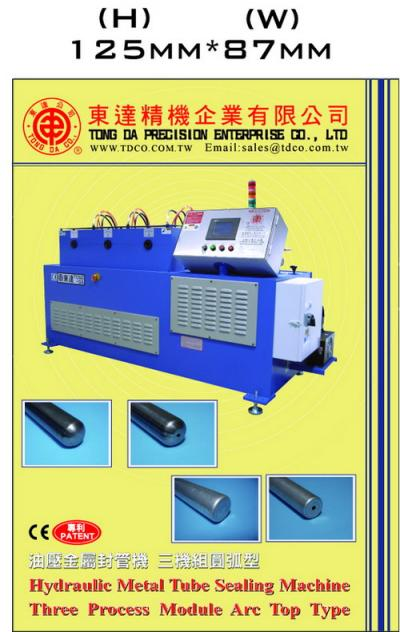 Hydraulic Metal Tube Sealing Marchine Three Process Module Flat Top Type