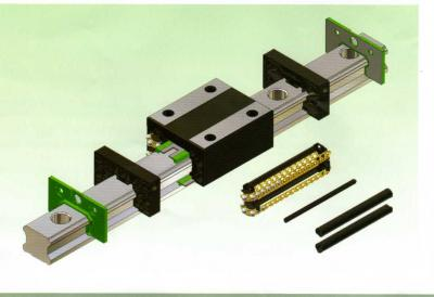 Caged type and non-caged type linear guideway