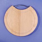 Wooden cutting board with stainless steel handle (Деревянная разделочная доска с ручкой из нержавеющей стали)