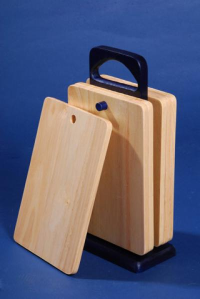 Rubber wood cutting board 6pc in a set (Gummi Holz Schneidebrett 6pc in einer Reihe)