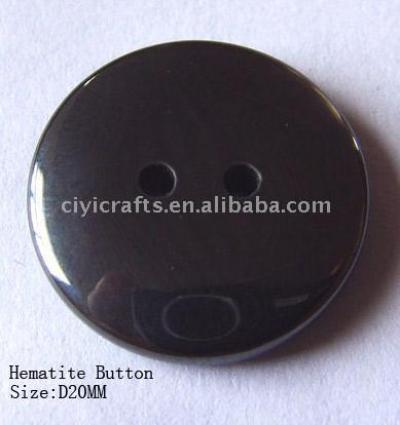 Hematite Button D20MM with Two Holes (Гематит кнопки D20MM с двумя отверстиями)