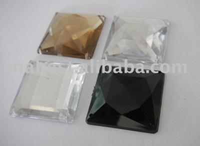 Acrylic Rhinestone - big square shape (Акриловые Rhinestone - большие квадратные формы)