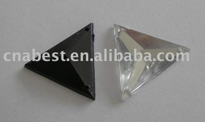 Acrylic Rhinestone - 24mm triangle with 3 holes (Акриловые Rhinestone - 24mm треугольник с 3 отверстиями)
