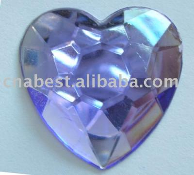 Acrylic Rhinestone - 30*30mm heart shape (Акриловые Rhinestone - 30 * 30mm формы сердца)