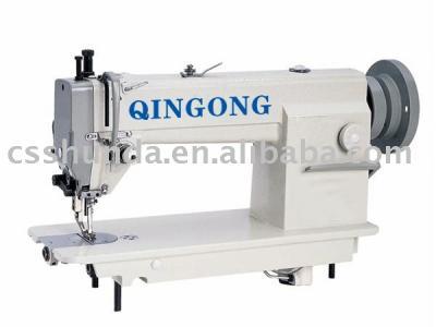 High-speed heavy duty top and bottom feed lockstitch sewing machine