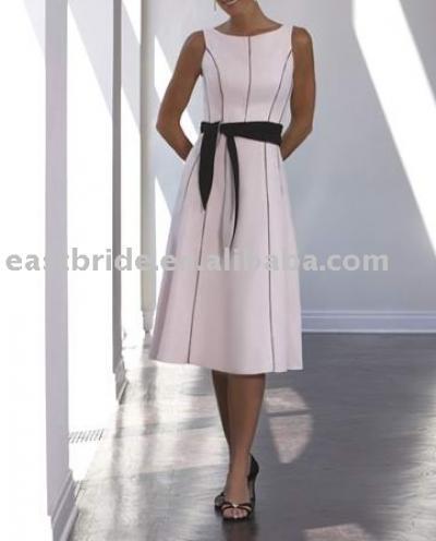 линия / принцесса Бато колен атласная невесты платье для невесты 2010...