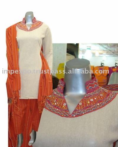 Ladies` Cotton Shalwar Kameez (Item No. Impexpocotton10) (Ladies` Cotton Shalwar Kameez (Item No. Impexpocotton10))
