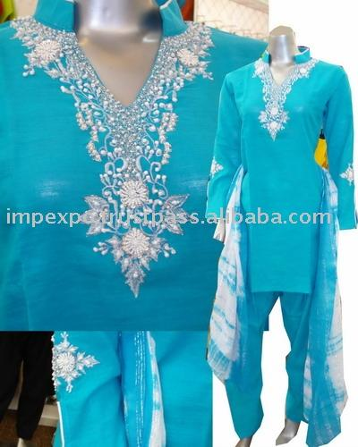 Ladies` Cotton Shalwar Kameez (Item No. Impexpocotton01) (Ladies` Cotton Shalwar Kameez (Item No. Impexpocotton01))