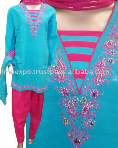 Ladies` Cotton Shalwar Kameez (Item No. Impexpocotton08) (Ladies` Cotton Shalwar Kameez (Item No. Impexpocotton08))