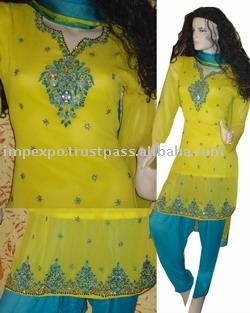 Ladies Wear: Handmade Work: Kora + Cut Dana + Sitara Work + Moti (Женская одежда: Ручная работа: Кора + + Cut Дана Sitara Work + Моти)